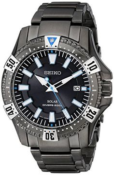 Seiko Men's SNE281 Analog Display Japanese Quartz Black Watch