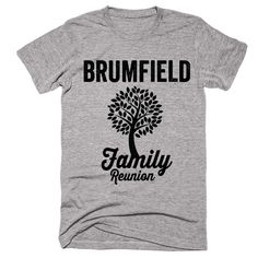 BRUMFIELD Family Name Reunion Gathering Surname T-Shirt