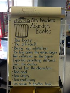 Why Readers abandon books