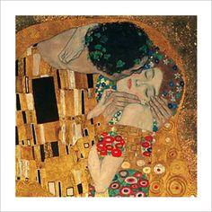 EL BESO (DETALLE) Laminas de Gustav Klimt