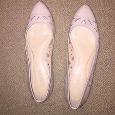 Calvin Klein cutout flats size 7 Women's 7 Calvin Klein nude colored flats. Pointed toe with cutouts. In very good condition!! Calvin Klein Shoes Flats & Loafers