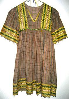 Vintage ethnic hippie boho dress for girl by sweetalicelovesyou, $44.00