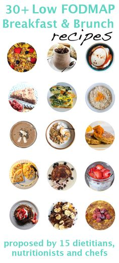 More than 30 Low FODMAP Breakfast & Brunch Recipes - check diet list prior to making!