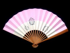 Pink Hand Fan Cherry Blossoms Vintage Paper by VintageFromJapan, $9.50