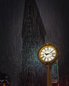 Flatiron Building, Flat Iron, Wood Watch, Watches, Gold, Accessories, Wooden Clock, Hair Iron, Wristwatches