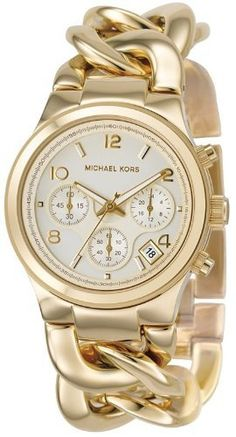 Michael Kors Chronograph Gold-tone Ladies Watch - MK3131