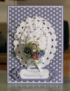 Stampin Up Mother's Day Card using Wonderful Mother stamp set, Sweet Shop dsp and Spellbinders dies.