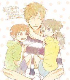 Free! Makoto and siblings