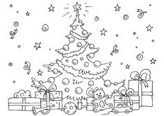 The Christmas tree coloring pages are perfect for getting into the Christmas spirit as they feature fully-decorated trees often accompanied by pictures of Santa Clause and gift boxes. Description from bestcoloringpagesforkids.com. I searched for this on bing.com/images