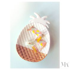 Moi aussi j'ai mon Ananas!  #Ananas#pastel#lollipop#bracelet#beads#springsummer2015#rings#jewelry#jewellery#marionmazo#mode#paris#berlin#gold