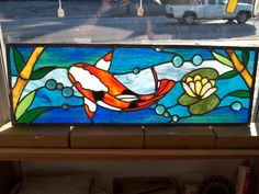 Your very own fish tank stained glass window! www.classicalglasssc.com