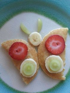 Use our recipe for Pancakes to create cute little butterflies