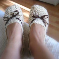 Instant download - Crochet PATTERN (pdf file) - Vanilla Slippers Adult size