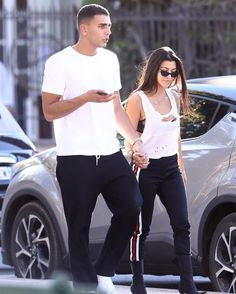 """1,611 Likes, 7 Comments - @kardashianuniverse_ on Instagram: """"Kourtney and Younes Bendjima out in Saint Tropez today. """""""