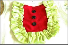 little girl watermelon bib shirt