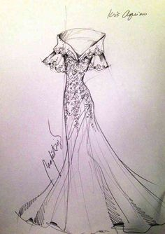 Sketches for Ninangs Modern Filipiniana Gown, Filipiniana Wedding, Fashion Drawing Dresses, Fashion Sketches, Fashion Illustrations, Gown Sketch Design, Filipino Fashion, Philippines Fashion, Dress Drawing