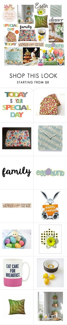 """""""Happy Easter Day"""" by belladonnasjoy ❤ liked on Polyvore featuring Hostess, DutchCrafters, Kate Spade, Cultura and vintage"""