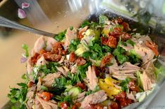 Good Food, Yummy Food, Fish Salad, Cooking Recipes, Healthy Recipes, Healthy Food, Dried Tomatoes, Different Recipes, Avocado