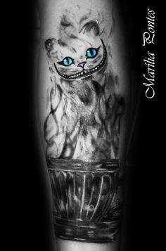 cat tattoo CHESHIRE