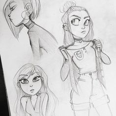 Sketches from a couple of months back  #angiensca #sketch #characterdesign