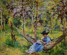 Margaret Fisher Prout - Hammock Among the Trees