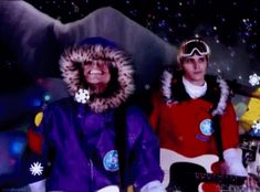 My Chemical Romance Frank Iero and Mikey Way smiling Yo Gabba Gabba Every Snowflake is Different