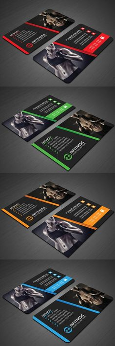 Fitness Business Card. Business Card Templates. $5.00