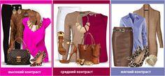 Сочетание цвета одежды по размеру цветового пятна
