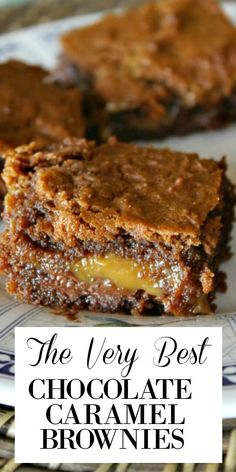 Recipe for Basement Brownies- aka Chocolate- Caramel Brownies.so good, you'll want to hide them in the basement so you can have them all to yourself! Best Brownie Recipe, Brownie Recipes, Cookie Recipes, Brownie Cookies, Best Dessert Recipes, Sweet Desserts, Drink Recipes, Easy Recipes, Chocolate Carmel Brownies