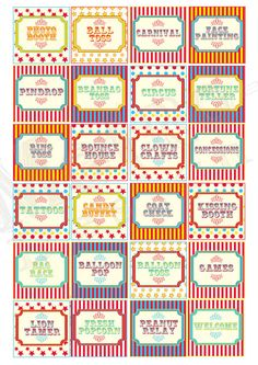 photo about Printable Carnival Signs named HOW Toward Produce CARNIVAL Activity Signs or symptoms