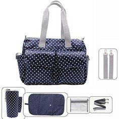 Damero Pflegetasche Tragetasche Wickeltasche Windeltasche mit Floral Designer (Blau Dots) Damai http://www.amazon.de/dp/B00SO1V952/ref=cm_sw_r_pi_dp_eGNexb1TM1YPG