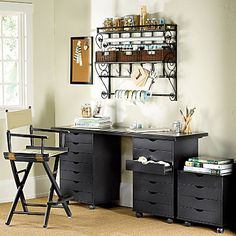 Wall Mounted Craft Storage Racks the desk reminds me of my old manicuring table i have and this is what i am going to so for my sewing machine
