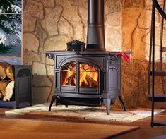 Vermont Castings Defiant - New February is the month of our stove BLOW OUT! The Defiant cranks out 60,000  btu's/hr and can easily heat a 2,400 sq. ft. home! The Defiant comes in four colors; Classic Black, Biscuit Enamel, Majolica Brown Enamel, and Bordeaux Enamel. Call Heidi today and mention Pinterest for 20% off today! (603)-320-7318