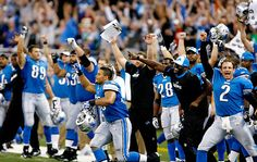 Detroit Lions.  Go blue !!! This is for you DAD!!:)