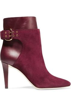 JIMMY CHOO Major Suede And Leather Ankle Boots. #jimmychoo #shoes #boots