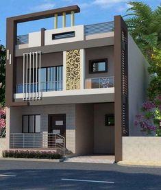 Beautiful of Minimalist Houses Design Modern Exterior House Designs, Modern House Plans, Modern House Design, Exterior Design, House Balcony Design, Duplex House Design, House Front Design, Independent House, Minimalist House Design