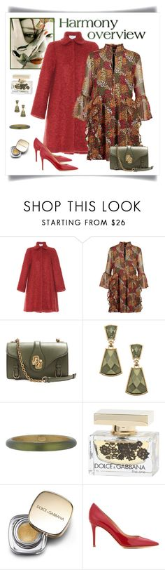 """""""Walter Baker Alonzo Ruffled Floral Georgette Mini Dress"""" by romaboots-1 ❤ liked on Polyvore featuring LUISA BECCARIA, W118 by Walter Baker, Bottega Veneta, Blu Bijoux, Alexis Bittar, Dolce&Gabbana and Gianvito Rossi"""