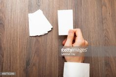 Stock Photo : Blank business card in a hand