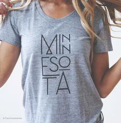 MN Type_Model_light_REV.jpg  Minnesota t-shirt, Minnesota tee, Minnesota Made Apparel                                                                                                                                                                                 More