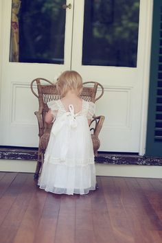 Christening Dress  Olive Dress by Tea Princess