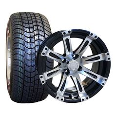 """Golf Cart Tire & Wheel Assembly - 14"""" Low Profile Tires/Wheels"""