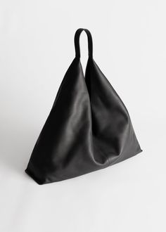 Smooth Leather Tote Bag - Black - Totes - & Other Stories