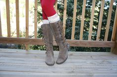 Womens White Lace Boot Cuff Womens Boot Socks by ColoradoChickCo
