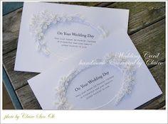 wedding invitation card Wedding Quilling Ideas, Paper Quilling Cards, Wedding Invitation Kits, On Your Wedding Day, Wedding Things, Punch Art, Love Photos, Elegant Wedding, Wedding Cards