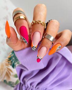 Girls Nail Designs, Different Nail Designs, Girls Nails, Hot Nails, Nail Trends, Summer Colors, Design Trends, Gemstone Rings, Nail Art