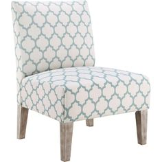 Create a reading nook beside a sunny window or complete your living room seating group with this lovely accent chair, showcasing quatrefoil trellis upholster...
