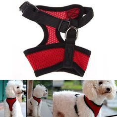 Adjustable Comfortable Soft Breathable Mesh Dog Harness, Puppy Harness & Cat Harness