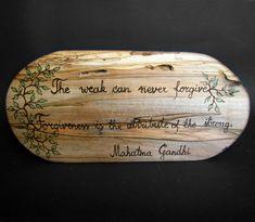 Forgiveness  Gandhi Quote  Rustic Organic Natural by tanjasova