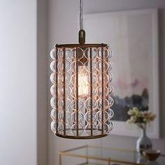 179.00 1 Light (40W) Hardwired Marney Glass Chandelier - Barrel #westelm
