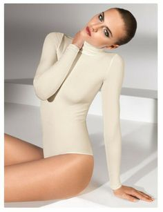 ad8c8e12a22 WOLFORD COLORADO Body Bodysuit in Ecrue Sz L R 250 New w Tags  fashion